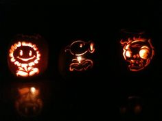 Plants Versus Zombies pumpkins!