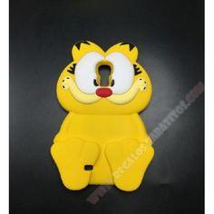 Carcasa divertida Galaxy S4 Garfield diseño muñeco 3D