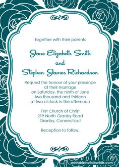 free blank wedding invitation templates for microsoft word wedding