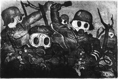 Stormtroopers During a Gas Attack by Otto Dix. 1924