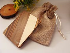LIMITED EDITION Wooden wallet credit card wallet men's