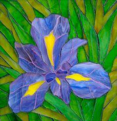 Iris          #mosaic #flowers