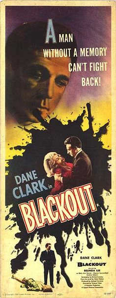 "Blackout (1954) ""Murder by Proxy"" (original title) Stars: Dane Clark, Belinda Lee, Betty Ann Davies, Eleanor Summerfield, Andrew Osborn ~ Director: Terence Fisher"