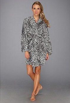 Josie by Natori Animal Plush Wrap Robe V94020 - Choose Color/Sz
