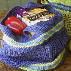 Free Knitting Pattern - Bags, Purses & Totes: BYOB (Bring Your Own Bag) Tote