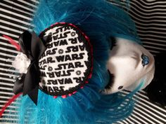 Star Wars Fascinator Hat Black and White with by CandysHatsAndACC