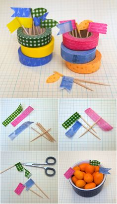 Easy Washi Tape Projects | DIY Food Picks by DIY Ready at http://diyready.com/100-creative-ways-to-use-washi-tape/