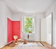 Apartment Kitchen, Apartment Interior, Apartment Design, Raul Sanchez, Eckhaus, Secret Passage, Load Bearing Wall, Four Rooms, Barcelona