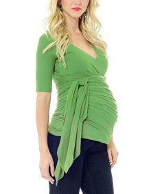 Loving this Green Bella Maternity Top on #zulily! #zulilyfinds