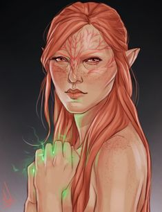 "emryss: "" I commissioned the amazing @cocotingo for a portrait of my dearest pink elf, Luana Lavellan, and it turned out so beautifully ahhh"