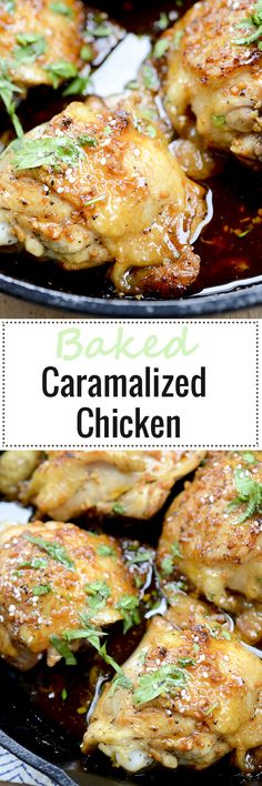 Caramalized Baked Chicken - Recipe Diaries #chicken