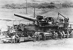 """24 cm Railway Gun """"Theodor Bruno""""   by GLORY. The largest archive of german WWII images"""