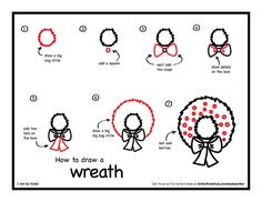how to draw a wreathjpg 22001700 pixels