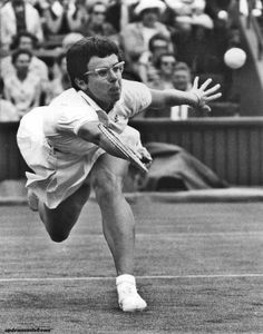July 1969, American tennis player, Billie Jean King in action at Wimbledon. She was champion in 1966, 1967, and 1968. But lost in 1969.