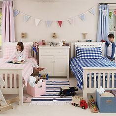 Buy Childrens Bedroom  Childrens Bedroom Accessories  Red White & Blue Fringed Rug from The White Company