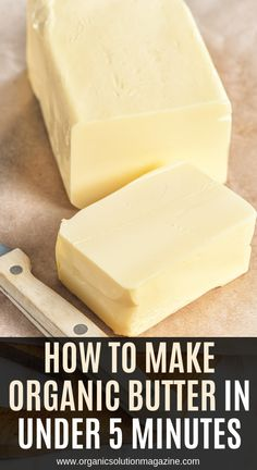 Store-bought butter is not healthy, because it is made from pasteurized milk. Homemade Cheese, Homemade Butter, Homemade Recipe, Homemade Food, Flavored Butter, Butter Recipe, Vegan Butter, Butter Ingredients, Organic Butter