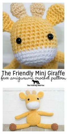 Presenting the free pattern for The Friendly (mini) Giraffe! A smaller version of the original he comes just under 6 inches tall!