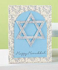 hanukkah crafts   Glittery Hanukkah Card   November/December 2011   Paper Crafts