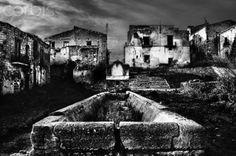 Italian Vintage Photographs ~ #Italy #Italian #vintage #photographs ~ The Ghost Town of Poggioreale, Sicily - Corbis