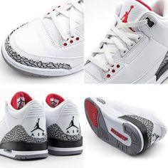 Air Jordan Retro 3s - White Cements