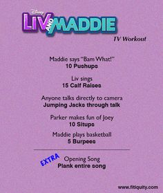 Enjoy Liv & Maddie but still work out! #BeFitEverywhere #Fitiquity