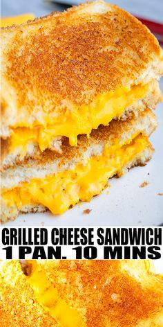 GRILLED CHEESE SANDWICH RECIPE- Learn how to make quick and easy sandwich, homemade with simple ingredients in one pan over stovetop in 10 minutes. Slathered in mayonnaise, crispy on the outside, ooey gooey cheesy inside. Loaded with American cheese and Cheddar cheese. Great with tomato soup. Make it gourmet with meat. From OnePotRecipes.com #cheese #cheddar #onepotrecipes #onepotmeal #30minutemeal #30minuterecipes #sandwich #dinner #lunch