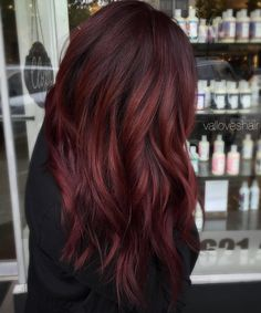Dark Burgundy Hair With Highlights