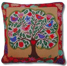 Jolly Red Tree of Life Tapestry Kit
