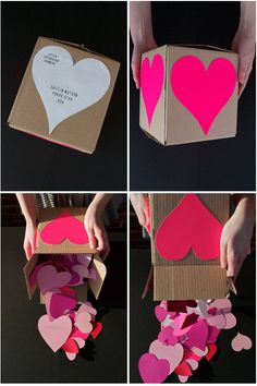 Fill a box with paper hearts and you're done. Learn how to make it here.