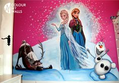 hand painted mural by Colour my Walls Frozen mural