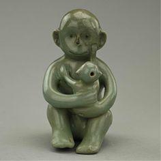 Korean celadon monkey-shaped water dropperKorean ArtMore Pins Like This At FOSTERGINGER @ Pinterest