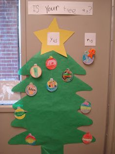 Christmas Tree Graph where kids put up their ornament when their tree goes up. And after Christmas they can take it off when it comes down. Big Christmas Tree, Christmas Arts And Crafts, Preschool Christmas, After Christmas, Christmas Holidays, Fun Activities For Kids, Christmas Activities, Preschool Ideas, Teaching Ideas