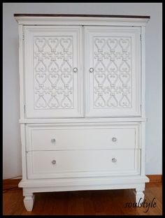 DIY:: Thrift Painted Dresser Amazing Tutorial + How to Add legs to any old/thrift dresser Tutorial!!