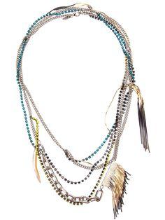 IOSSELLIANI long fringed necklace - on Vein - getvein.com