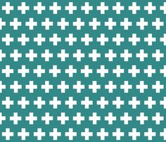 plus in deep jade fabric by candykirbydesigns on Spoonflower - custom fabric