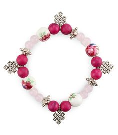 Female bracelet by Origo, pink bracelet that  made of china beads, nickel…