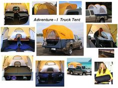 """Go """"Conestoga"""" style in the Adventure 1 Truck Tent. With a fiberglass frame with color-coded poles for easy set-up, the Adventure 1 comes in three [...]"""