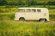 Arrive in style! Classic 1965 VW Split Screen Camper Van wedding hire. London, Kent and Surrey.