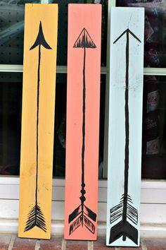 DIY Boho Wooden Arrow Decor