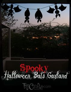 Spooky Halloween Bats Garland {  Cut Files} by Cami @ TitiCrafty.com