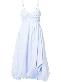 $595.43. 3.1 PHILLIP LIM Cotton 3.1 Phillip Lim Bubble-Hem Dress - Blue #31philliplim #cotton #clothing Day Dresses, Blue Dresses, Summer Dresses, Flamenco Skirt, Suits For Women, Clothes For Women, Bubble Skirt, Cotton Shirt Dress, Lace Bodice