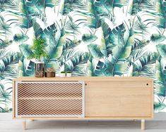 Upgrade your walls with this elegant Banana Leaves Wall Mural adding an exclusive touch to your personal style and surprise your family and friends. New Wallpaper, Fabric Wallpaper, Simple Addition, Self Adhesive Wallpaper, Cool Patterns, Textured Walls, Fabric Material, Wall Murals, Decor Styles