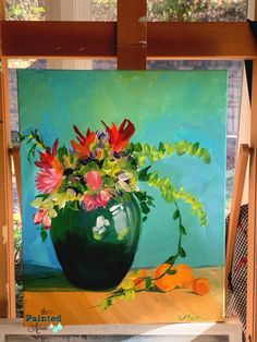 Fearless Friday, Still Life with Oranges | The Painted Apron Fearless Friday, Art Tutorials, Painting Tutorials, Little Christmas, Poinsettia, Shades Of Green, Painting Inspiration, Still Life, Watercolor Art