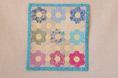 dollhouse miniature 1:12 scale hand-pieced quilt