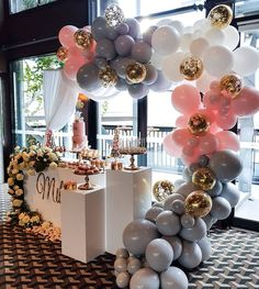 """2,043 Likes, 23 Comments - Boutique Balloons Melbourne (@boutiqueballoonsmelbourne) on Instagram: """"A little something we did today for @creme.co_by.touran ... love these colors of grey, white and…"""""""