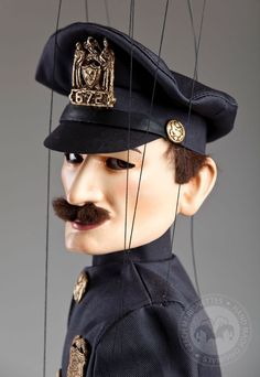The Police Officer from The Charlie Chaplin Collection by Czech Marionettes.