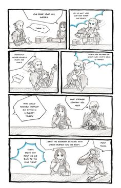 DA2: Strange Company by ~gabulinka on deviantART - remember when justice and Anders were separate and Anders still had his cat? good times.