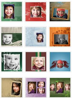 free winter photoshop templates
