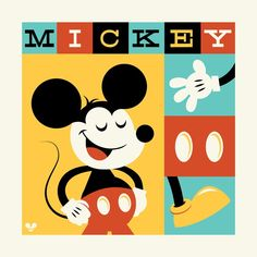 Mickey Mouse by Artist Dave Perillo | Disney Geekery | Pinterest