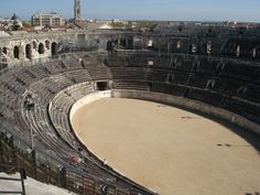 Nimes, France: home to some of the most well preserved Roman buildings, including this amphitheater (been there!)